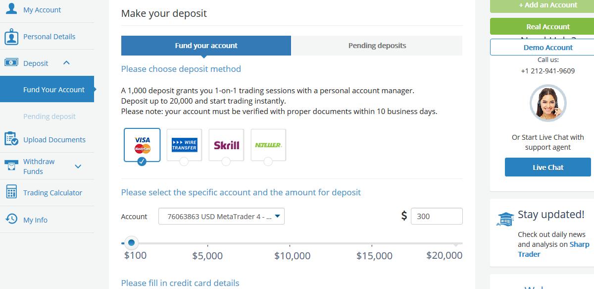 AvaTrade Nigeria Fund your Account