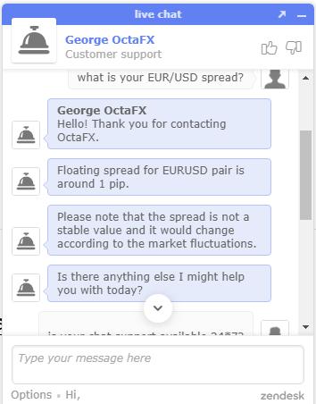 OctaFX Chat